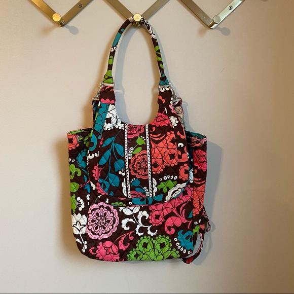 Vera Bradley Convertible Backpack Purse Lola EUC